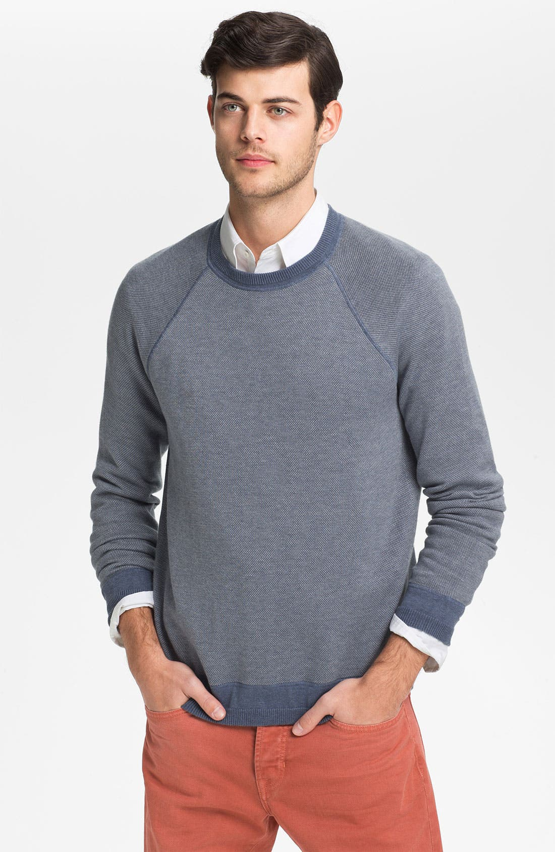 Alternate Image 1 Selected - Vince Cotton & Cashmere Sweater