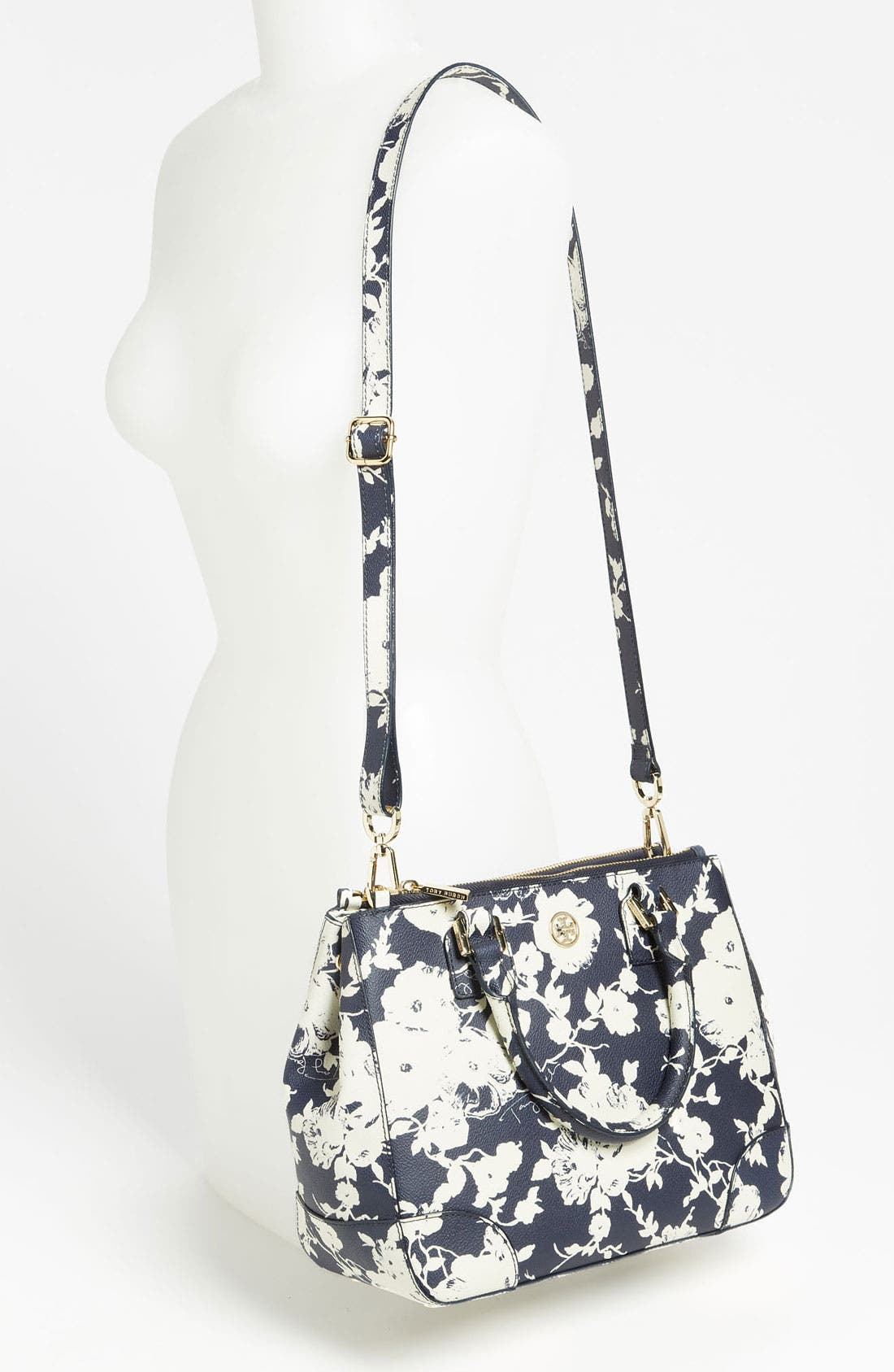 'Robinson - Small' Double Zip Tote,                             Alternate thumbnail 2, color,                             Tory Navy