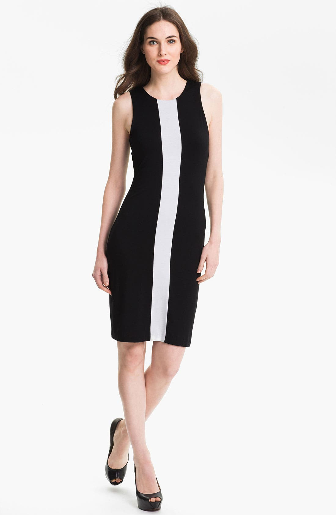 Main Image - Karen Kane Sleeveless Contrast Dress