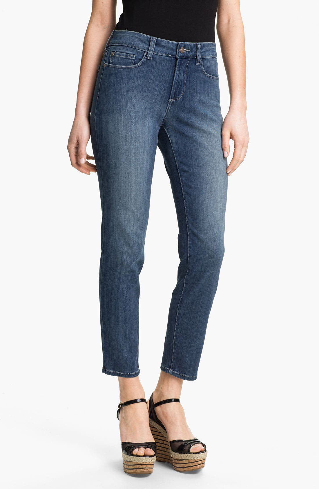 Alternate Image 1 Selected - NYDJ 'Alina' Stretch Skinny Jeans (Petite)