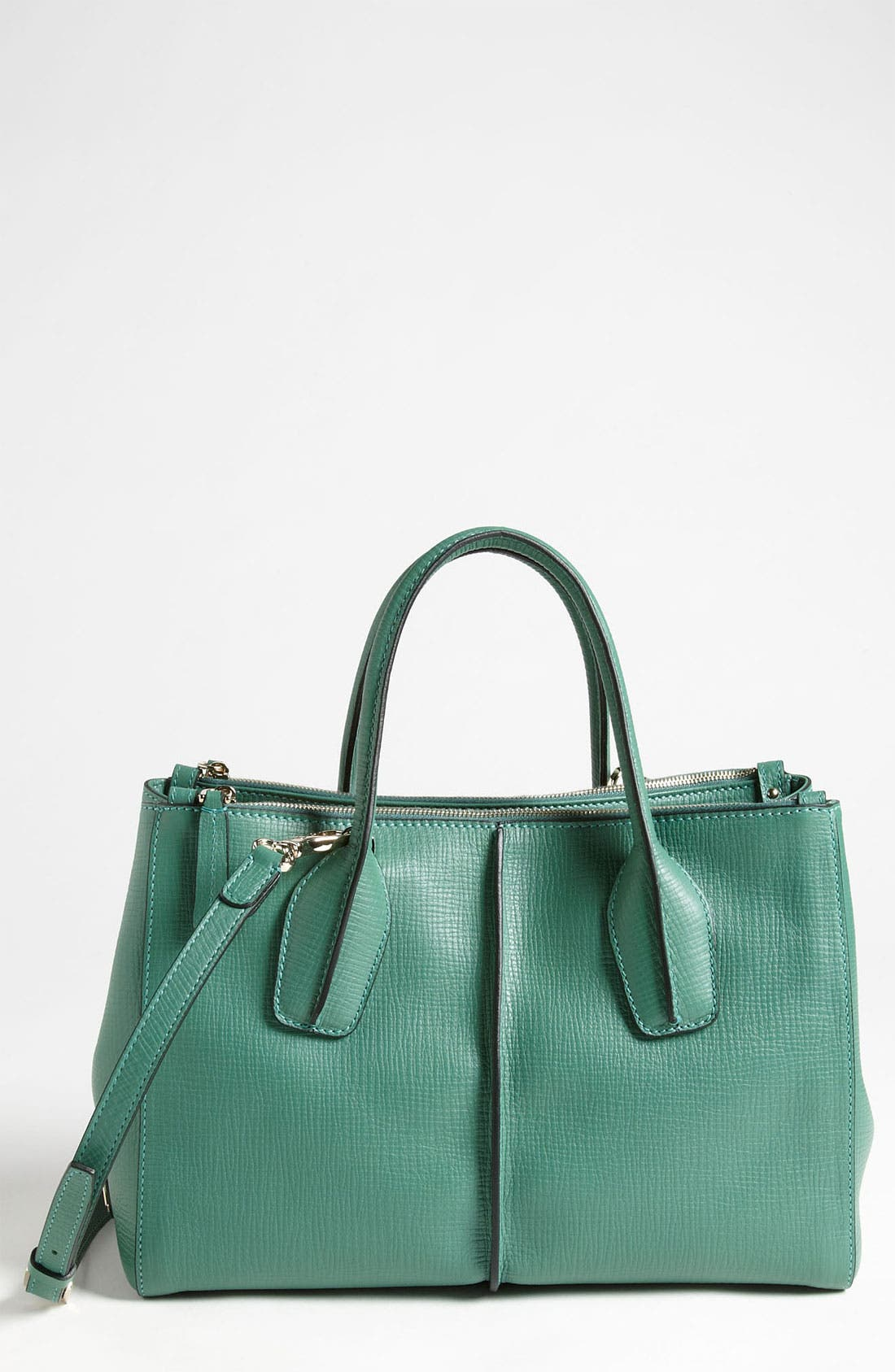 Alternate Image 1 Selected - Tod's 'D-Styling' Two Zip Leather Shopper