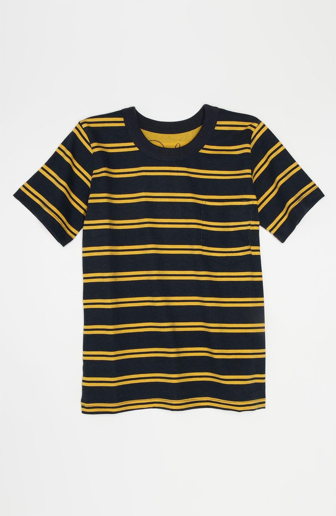 Alternate Image 1 Selected - Peek 'Simon' Stripe T-Shirt (Toddler, Little Boys & Big Boys)