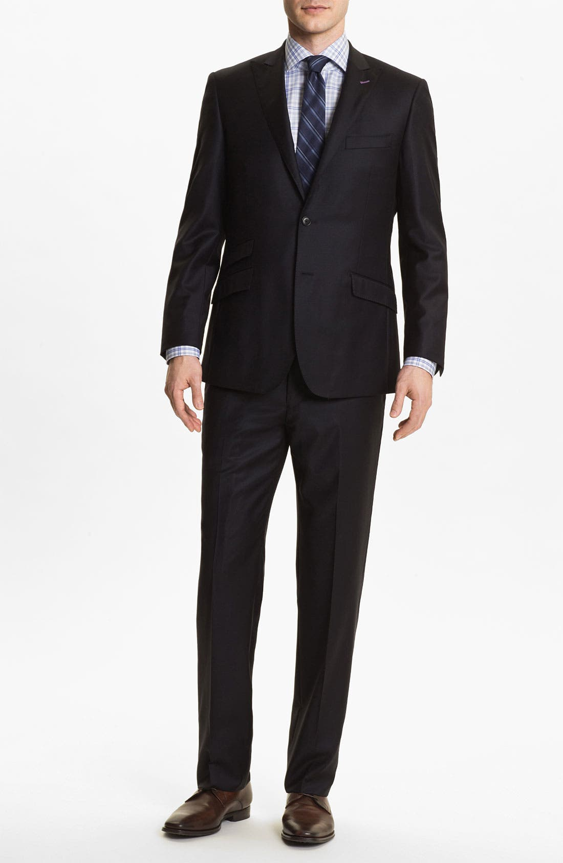Main Image - English Laundry Trim Fit Wool Suit (Online Only)