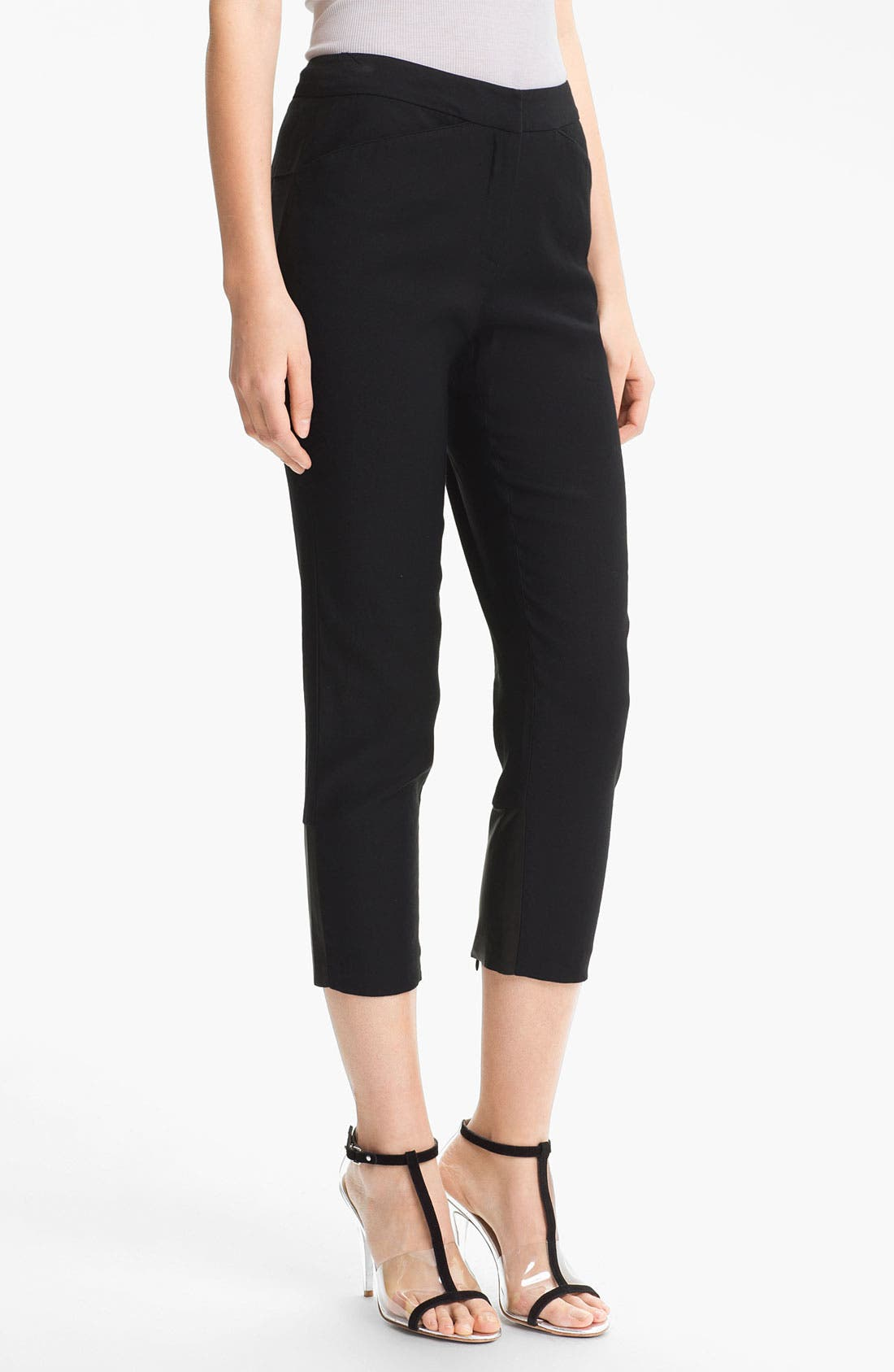 Alternate Image 1 Selected - Tracy Reese Stretch Linen Crop Pants