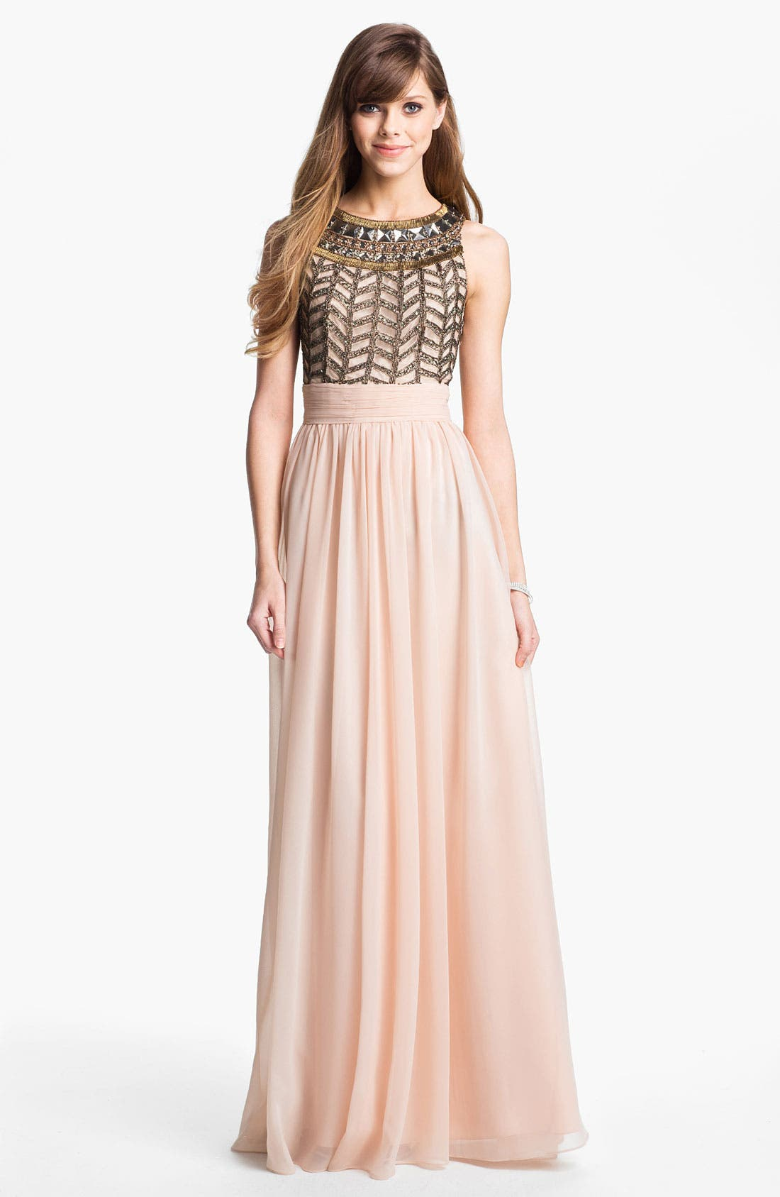 Main Image - JS Collections Embellished Chiffon Gown