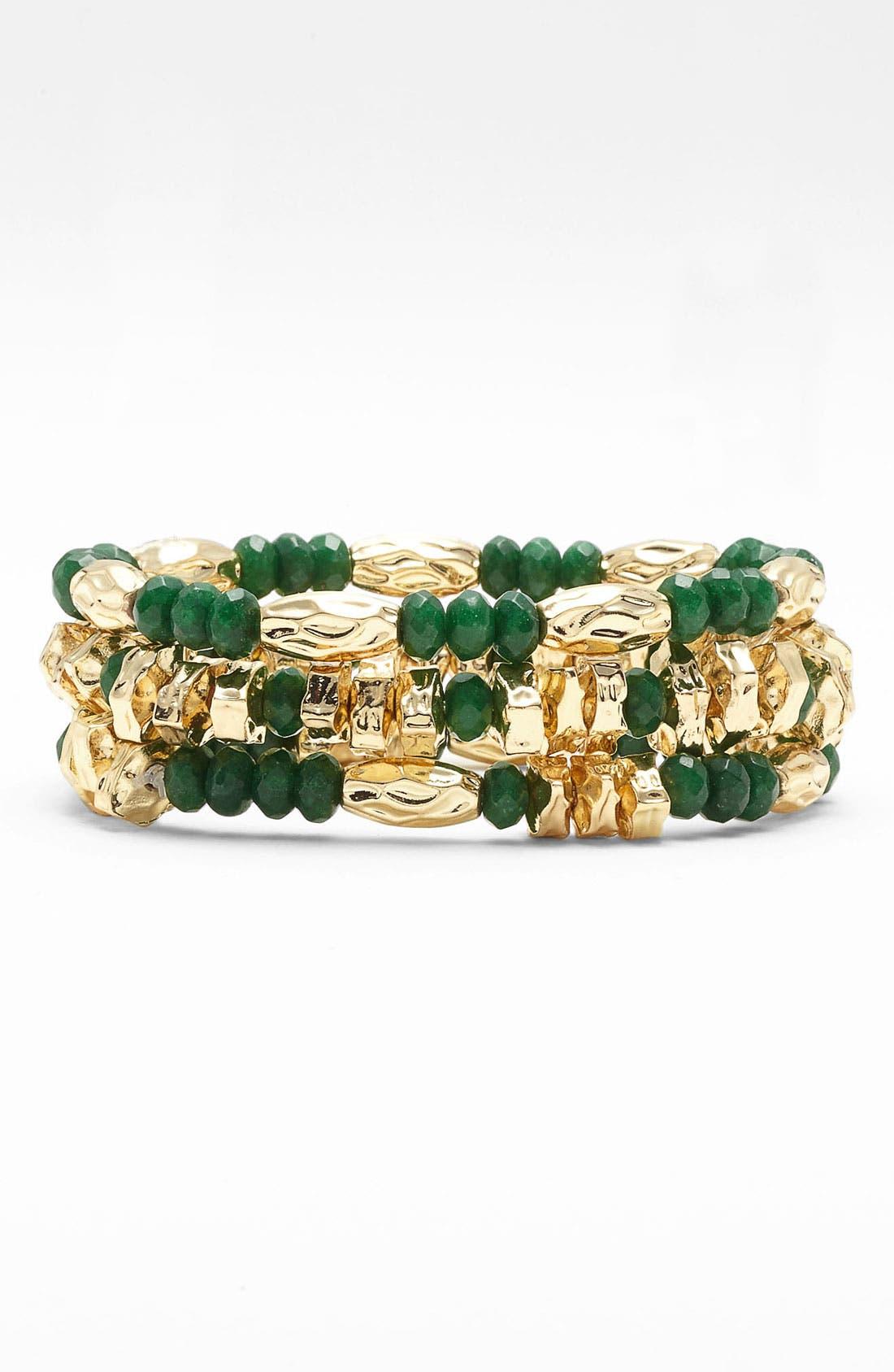 Alternate Image 1 Selected - Nordstrom Bead Stretch Bracelets (Set of 3)