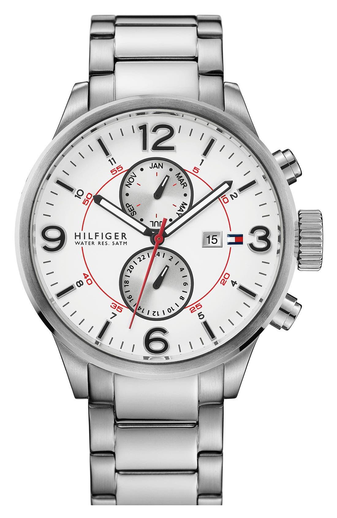 Alternate Image 1 Selected - Tommy Hilfiger Multifunction Bracelet Watch, 46mm