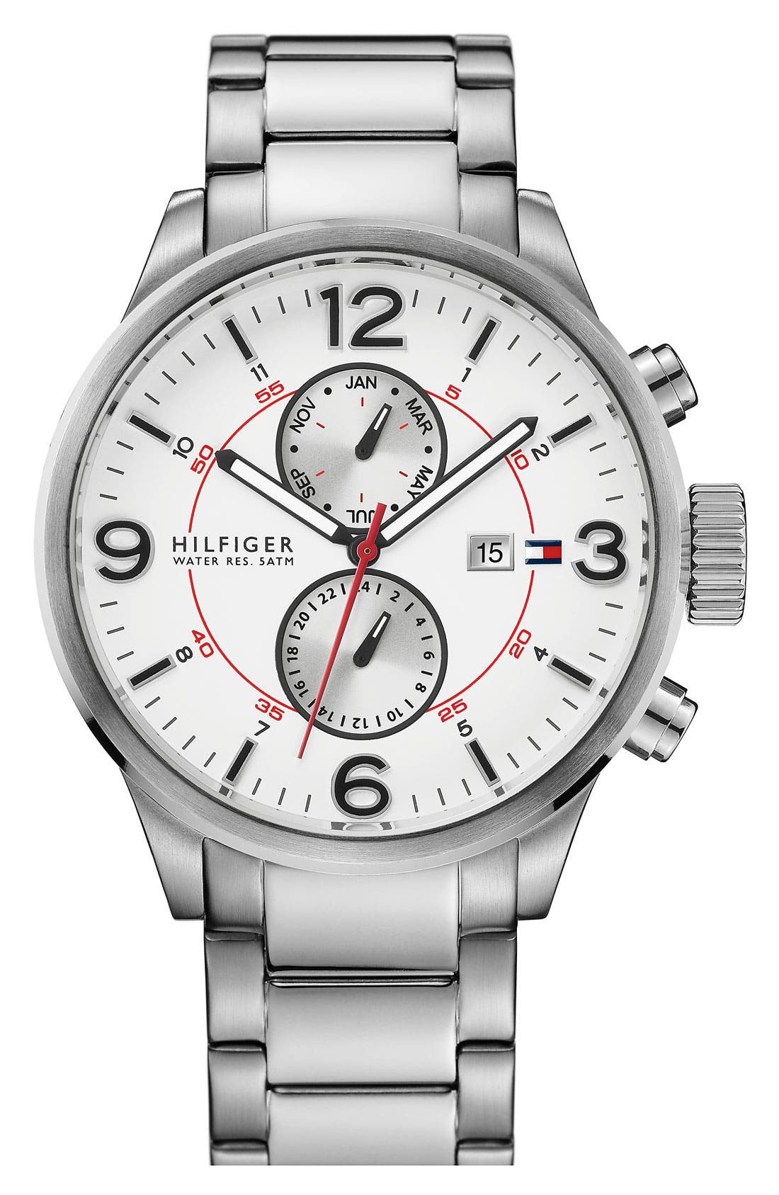 Main Image - Tommy Hilfiger Multifunction Bracelet Watch, 46mm