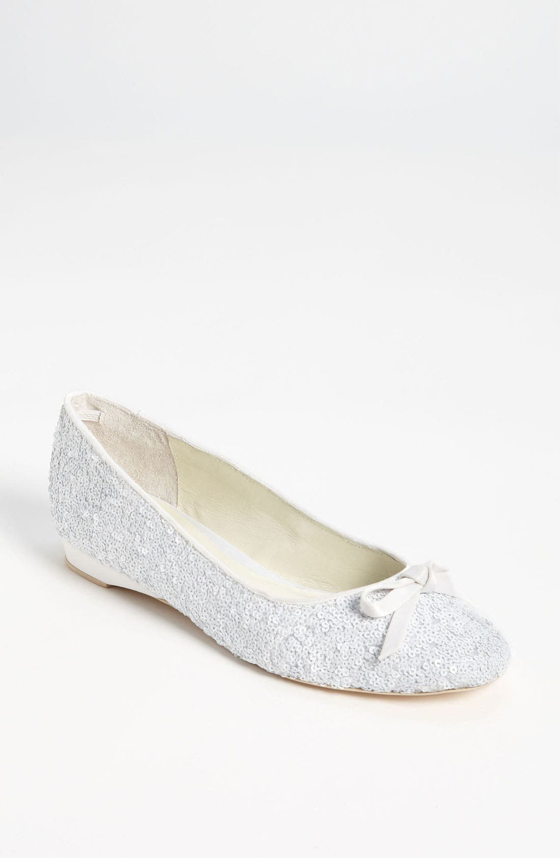 Sequin Flat,                             Main thumbnail 1, color,                             Ivory