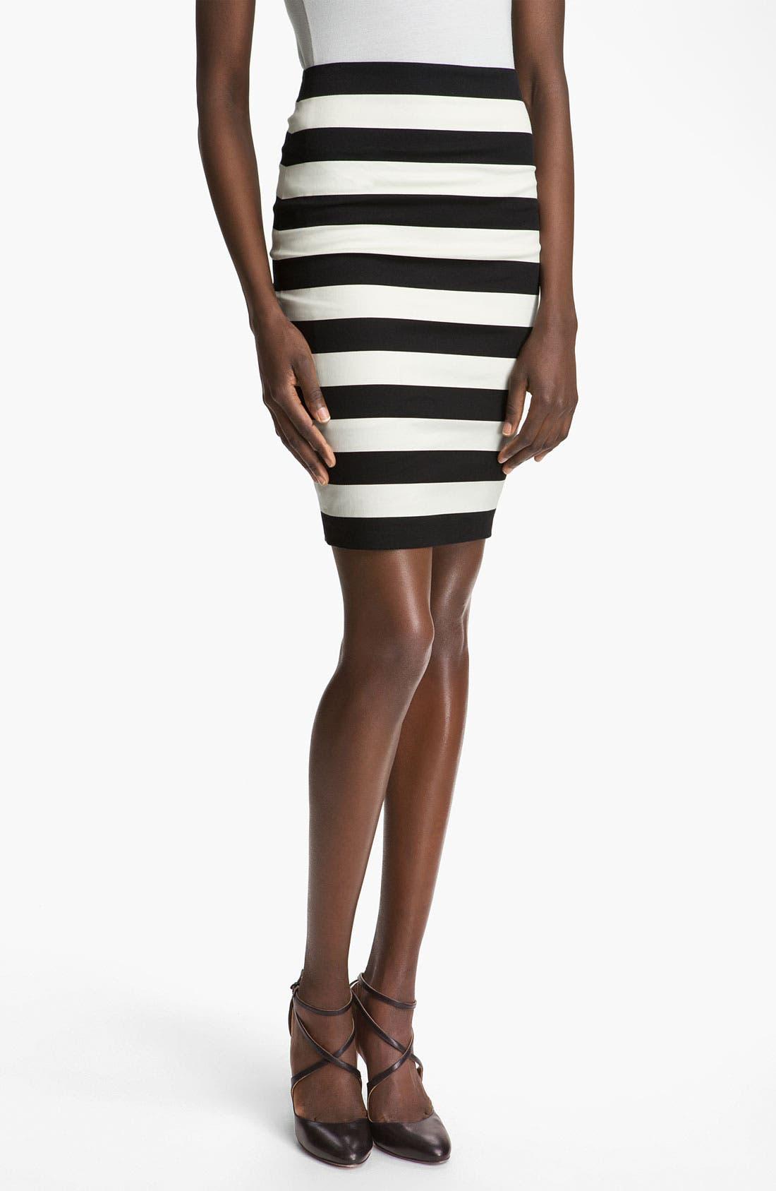 Main Image - Robert Rodriguez Graphic Stripe Pencil Skirt