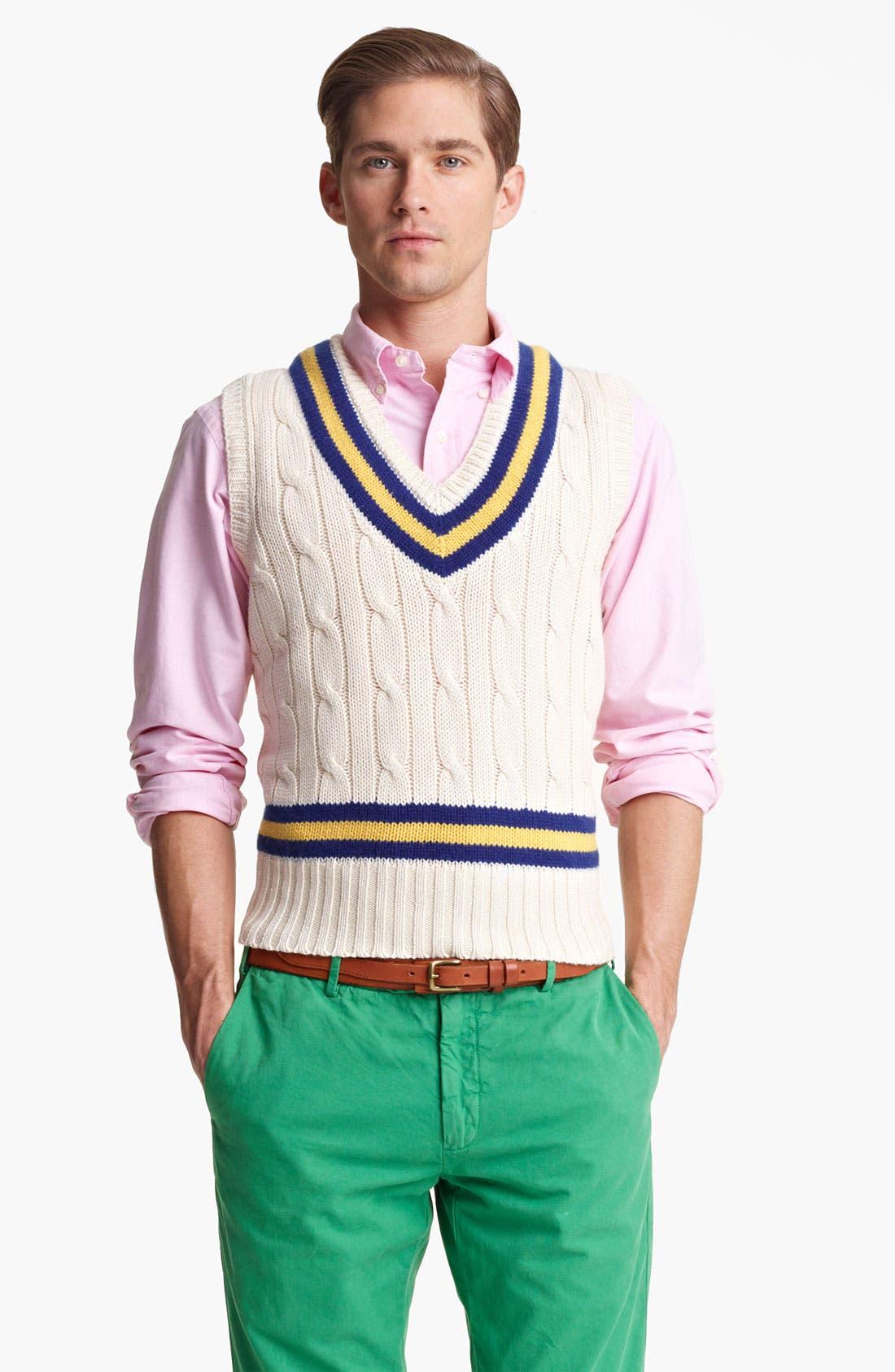Alternate Image 1 Selected - Polo Ralph Lauren V-Neck Sweater Vest