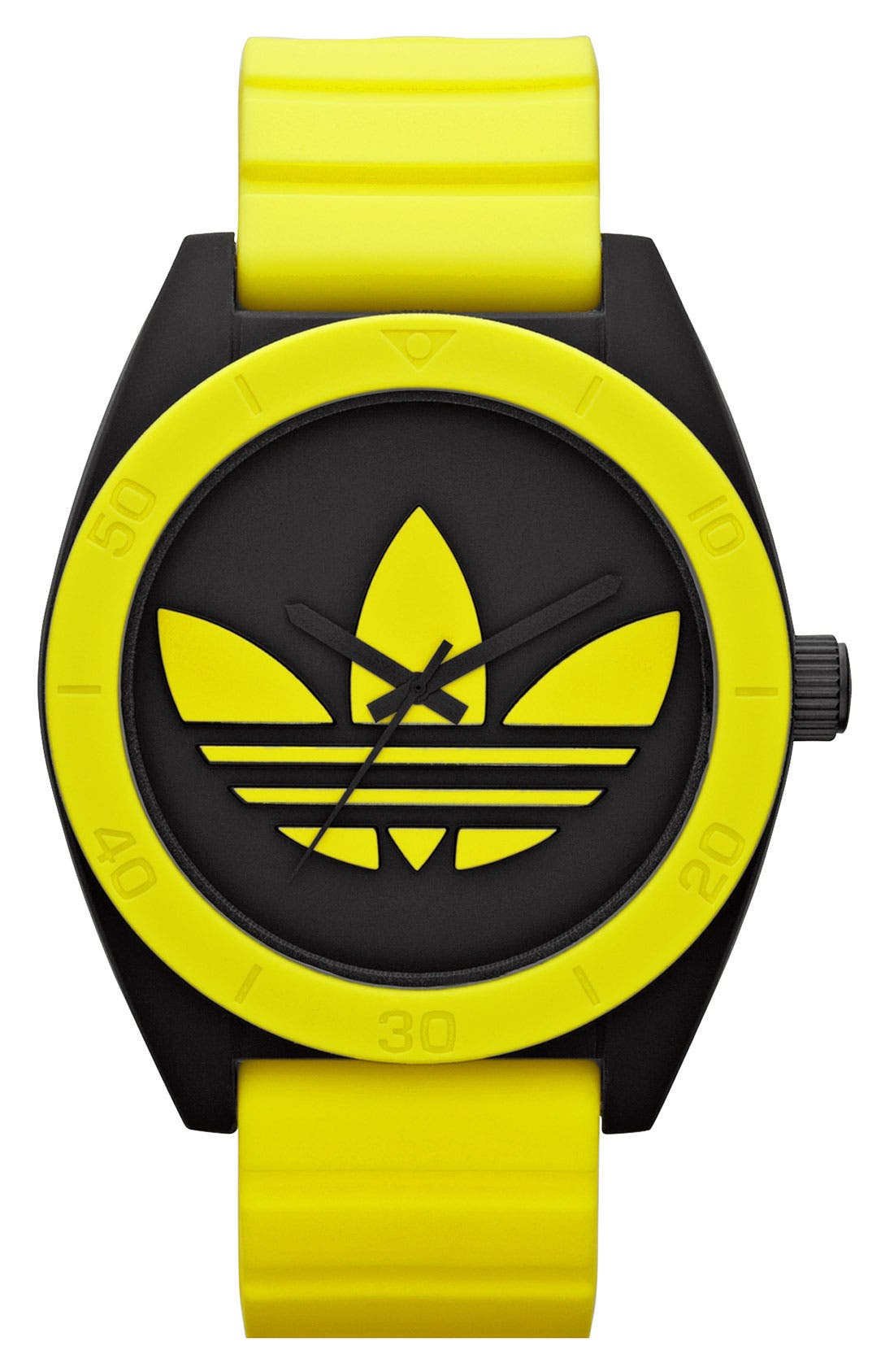 Alternate Image 1 Selected - adidas Originals 'Santiago XL' Neon Accent Watch, 50mm