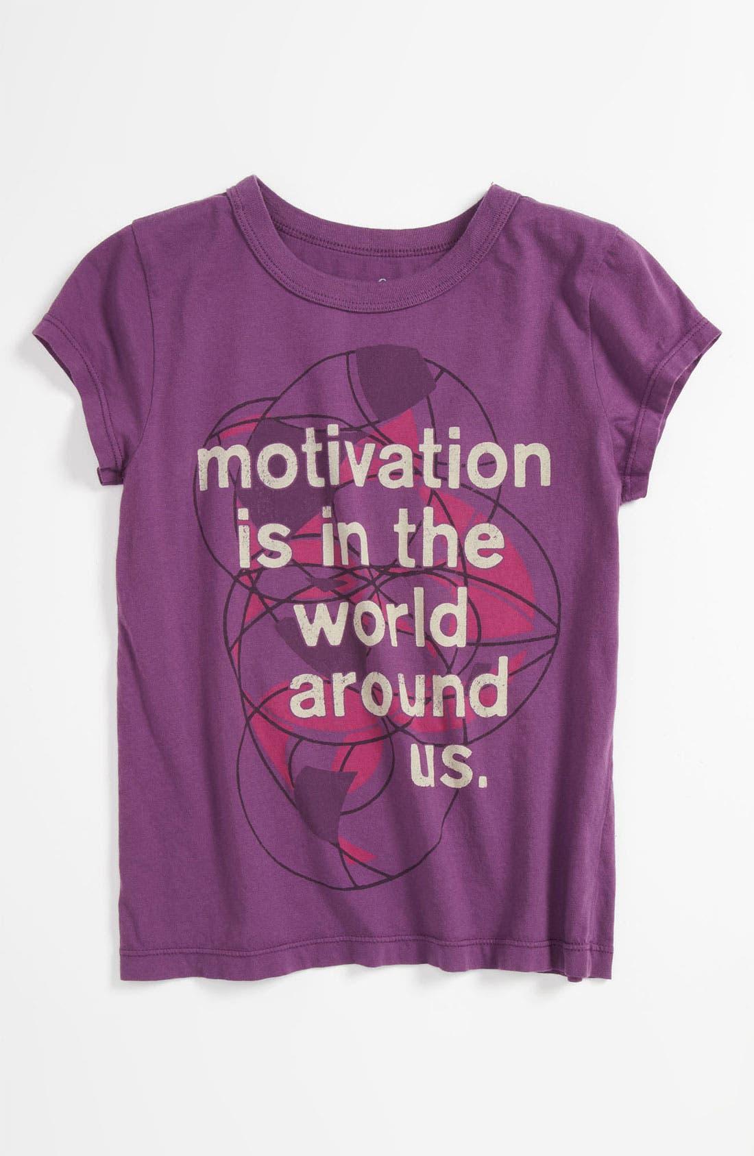 Alternate Image 1 Selected - Peek 'Motivation' Tee (Toddler, Little Girls & Big Girls)