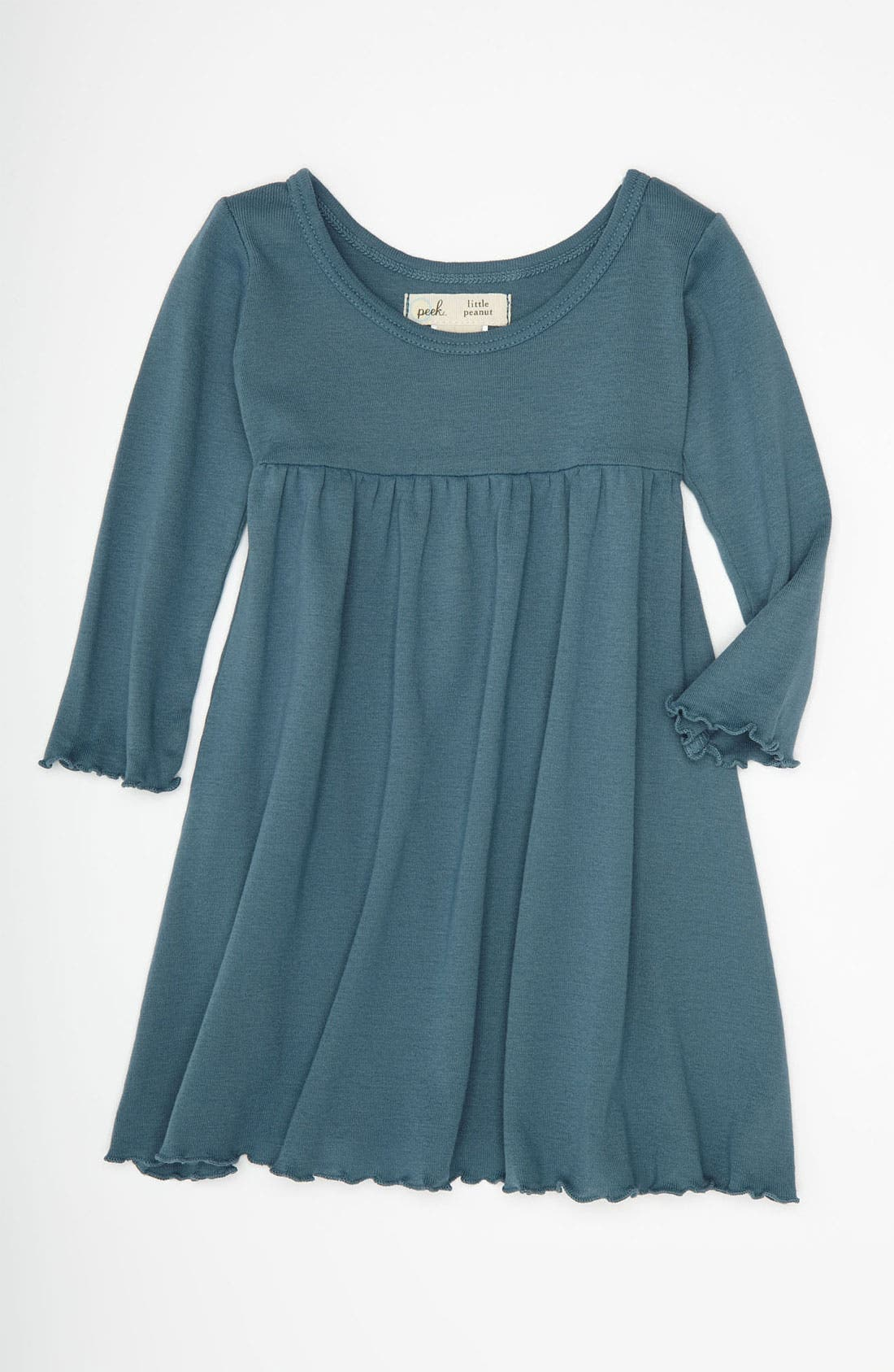 Alternate Image 1 Selected - Peek 'Little Peanut' Long Sleeve Dress (Baby)