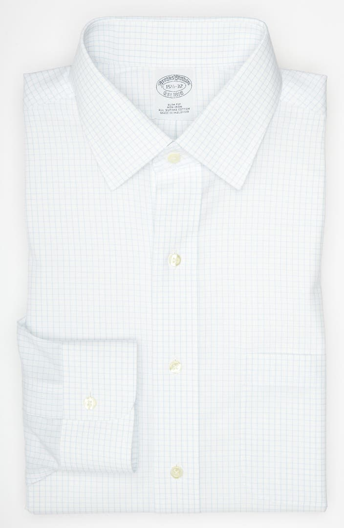Brooks brothers slim fit non iron dress shirt nordstrom for Slim fit non iron dress shirts