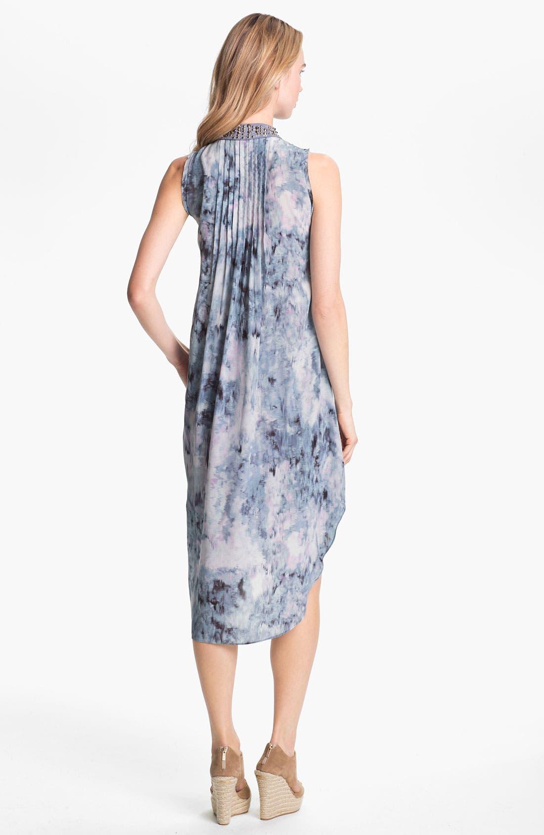 Alternate Image 2  - Rebecca Taylor Pintuck Silk Shirtdress