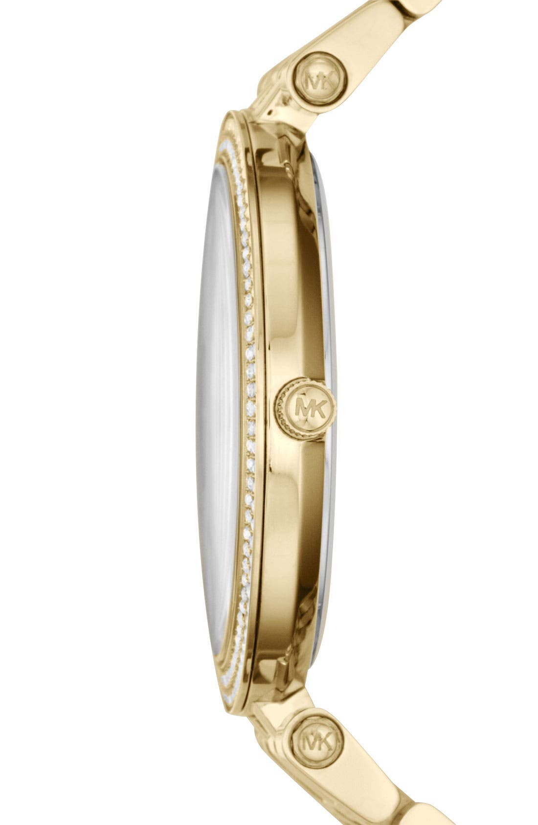 'Darci' Round Bracelet Watch, 39mm,                             Alternate thumbnail 3, color,                             Gold