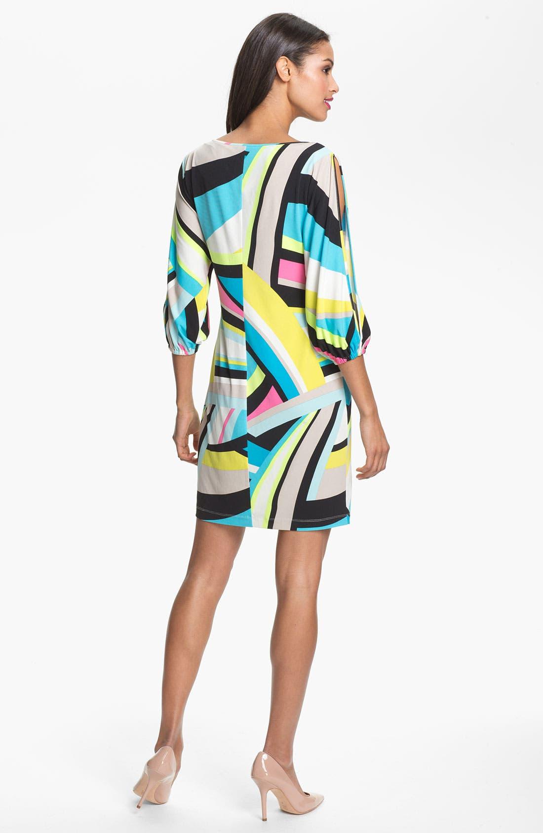 Alternate Image 2  - Calvin Klein Cold Shoulder Print Shift Dress