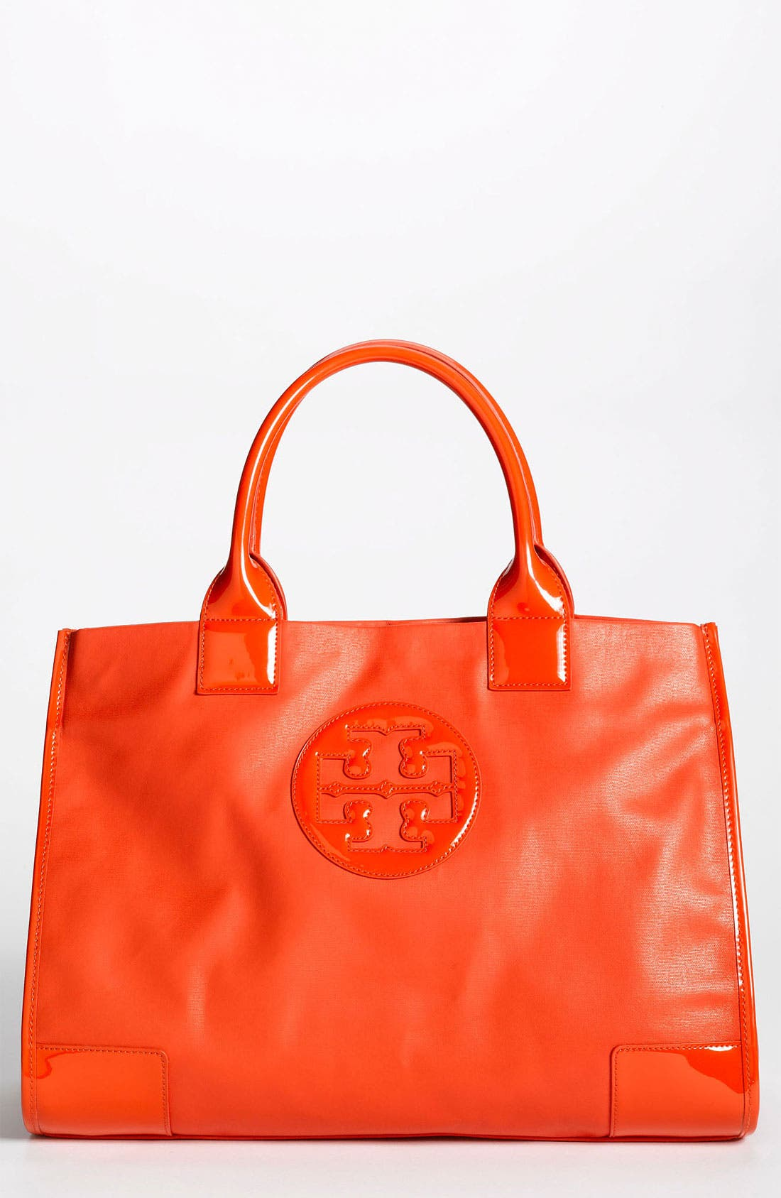 Main Image - Tory Burch 'Ella' Dipped Canvas Tote, Extra Large