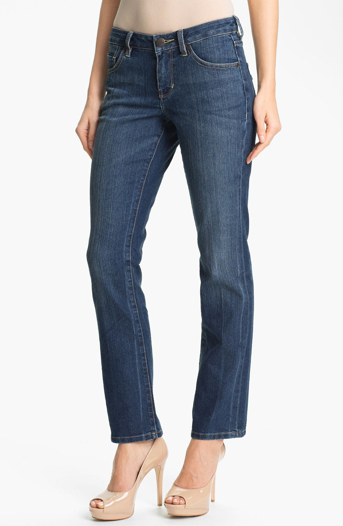 Alternate Image 1 Selected - Jag Jeans 'Lucy' Bootcut Stretch Jeans (Blue Raven) (Petite)