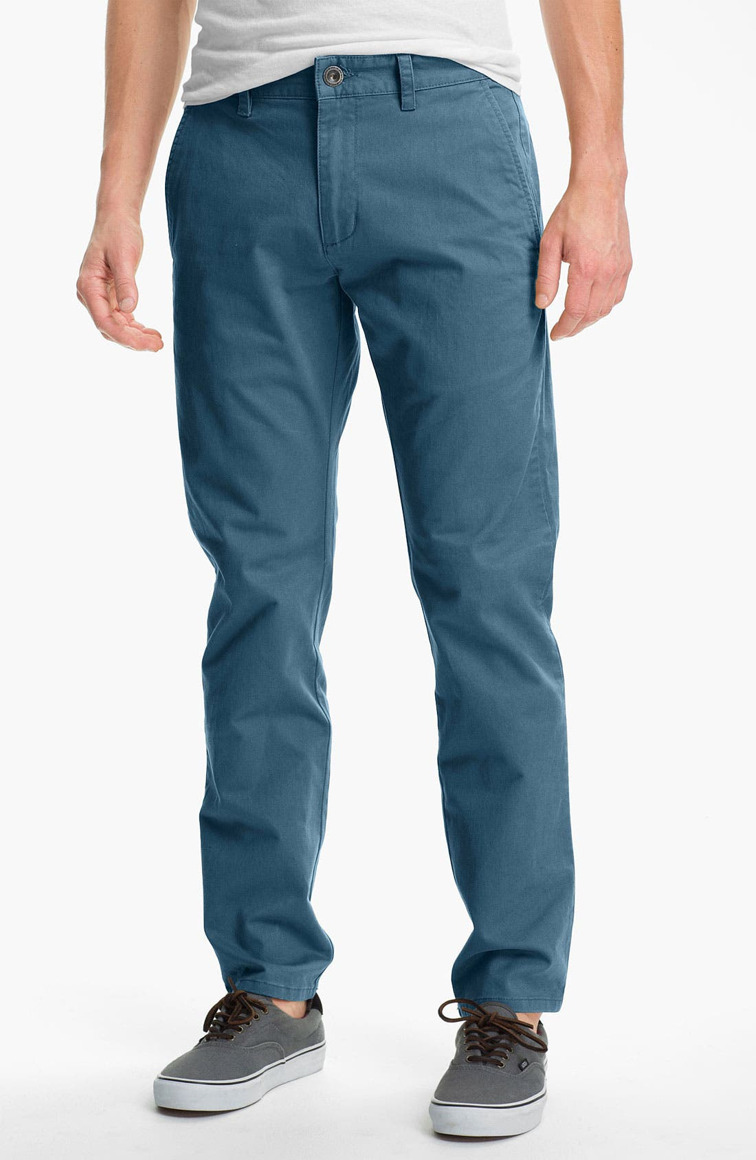 Alternate Image 1 Selected - RVCA 'All Time' Slim Straight Leg Chinos