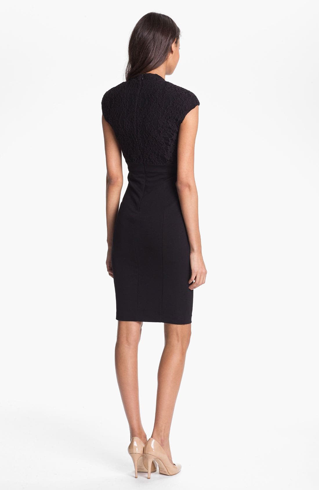 Alternate Image 2  - Ted Baker London Lace Detail Sheath Dress (Online Only)