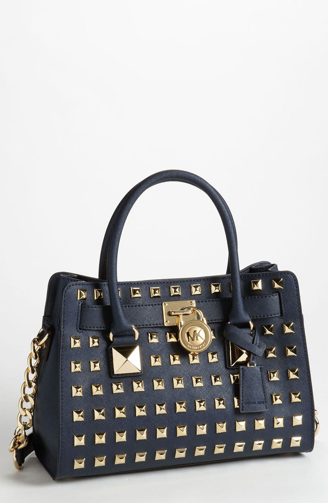 Main Image - MICHAEL Michael Kors 'Hamilton' Studded Leather Satchel