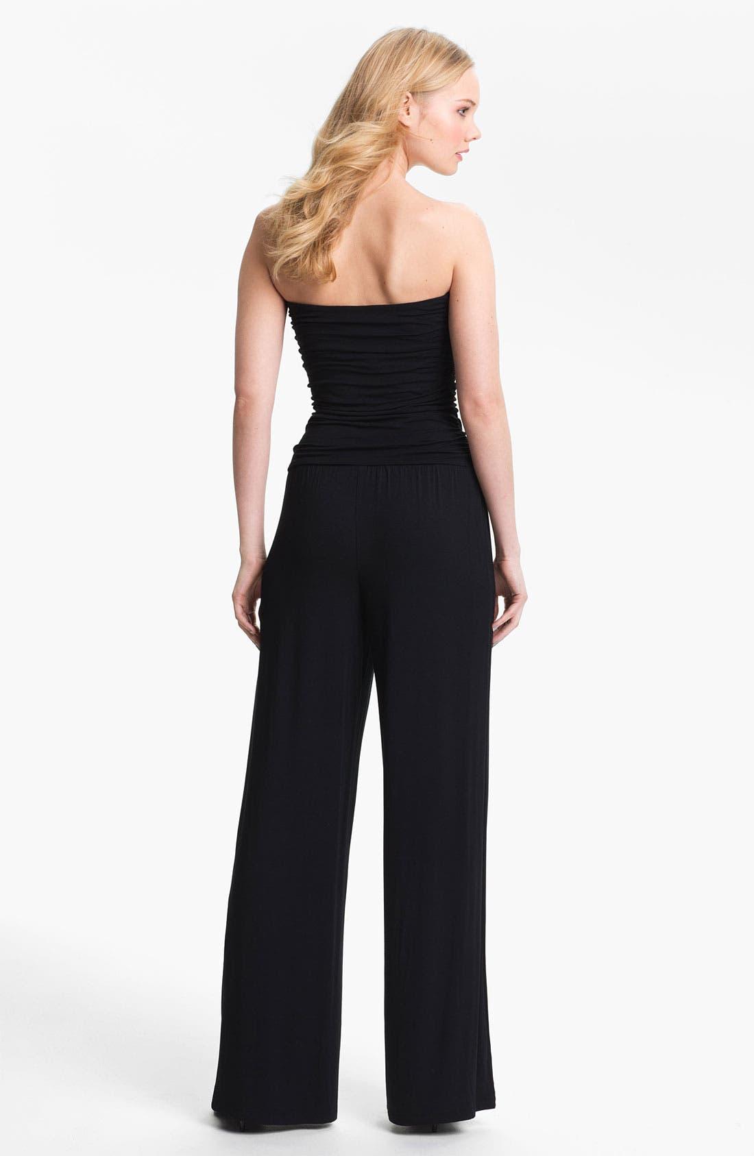 Alternate Image 2  - Tart 'Mariah' Strapless Ruched Jumpsuit