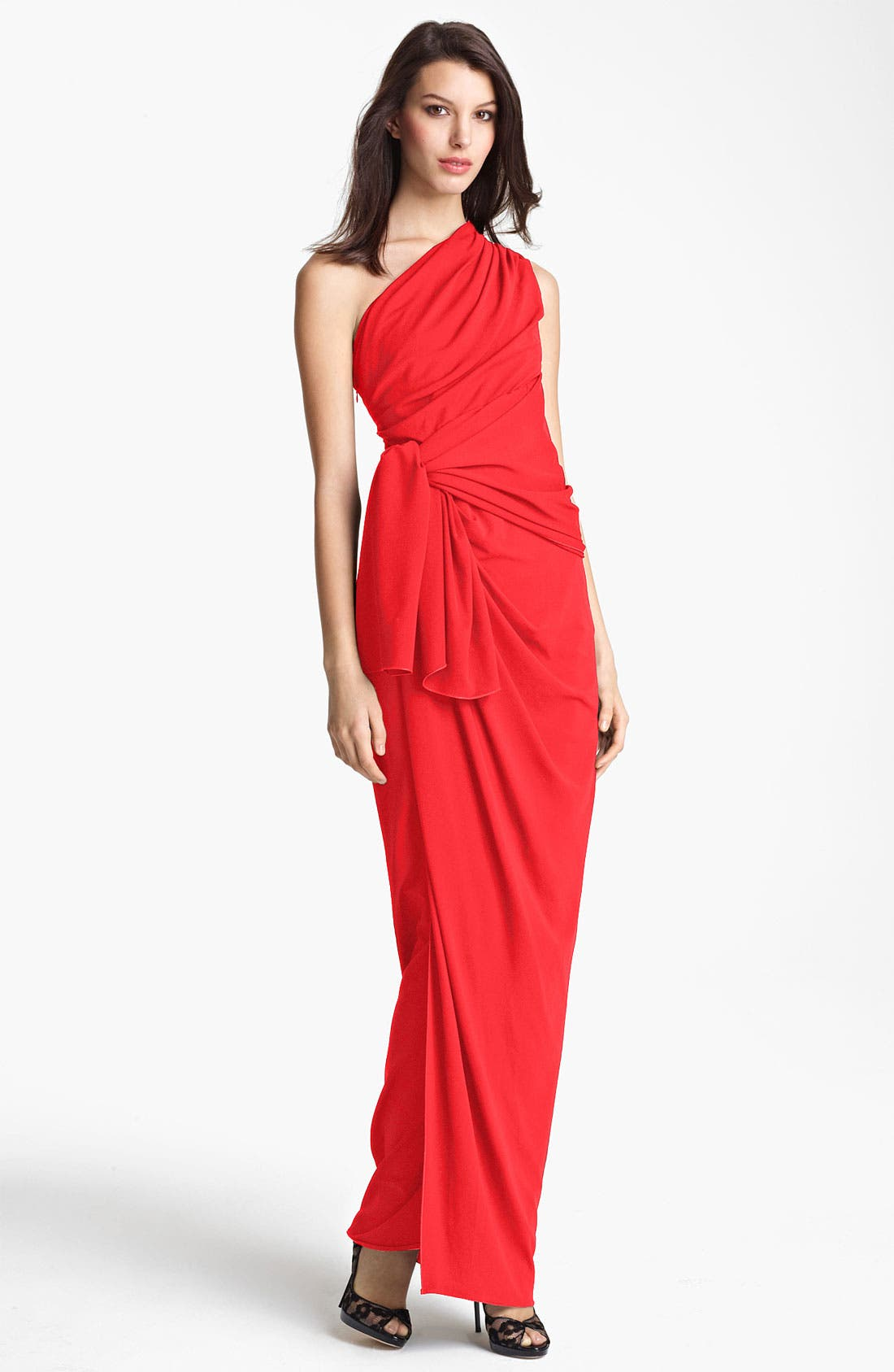 Main Image - Max Mara Draped One Shoulder Gown