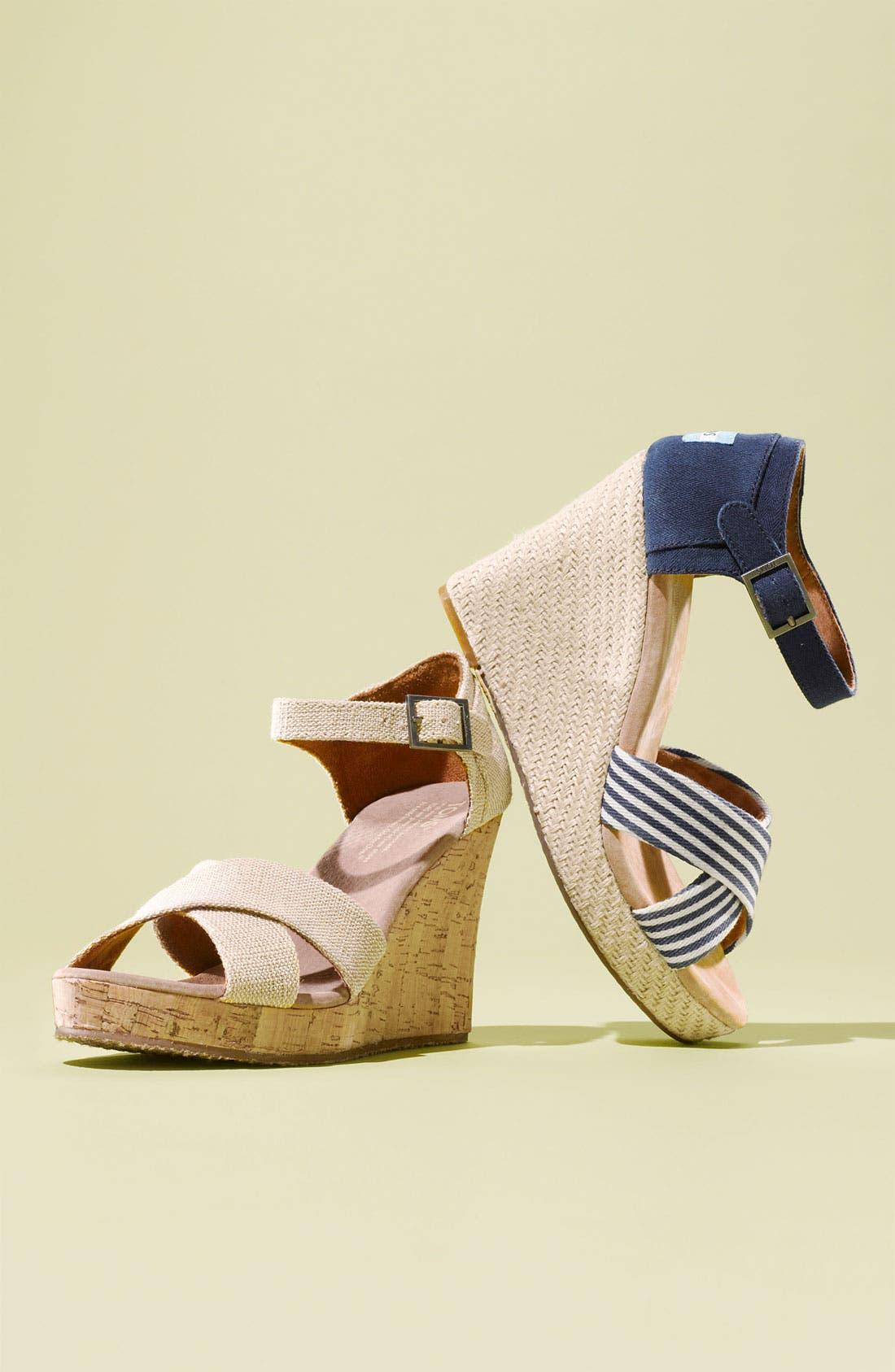 Alternate Image 5  - TOMS 'University Stripe' Sandal