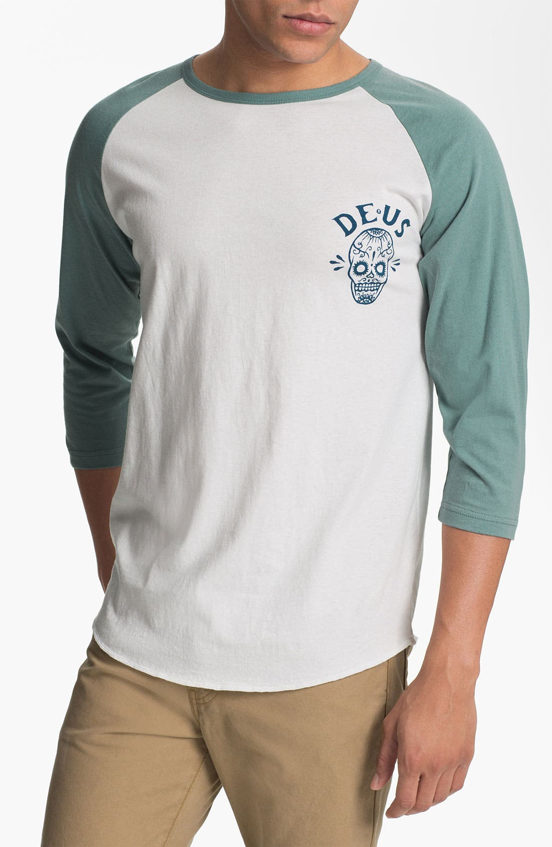 Main Image - Deus Ex Machina 'Deus of the Dead' Graphic Baseball T-Shirt