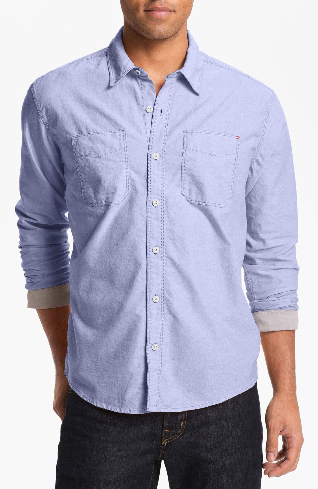 Main Image - Cutter & Buck 'Phelps Oxford' Regular Fit Sport Shirt (Big & Tall)