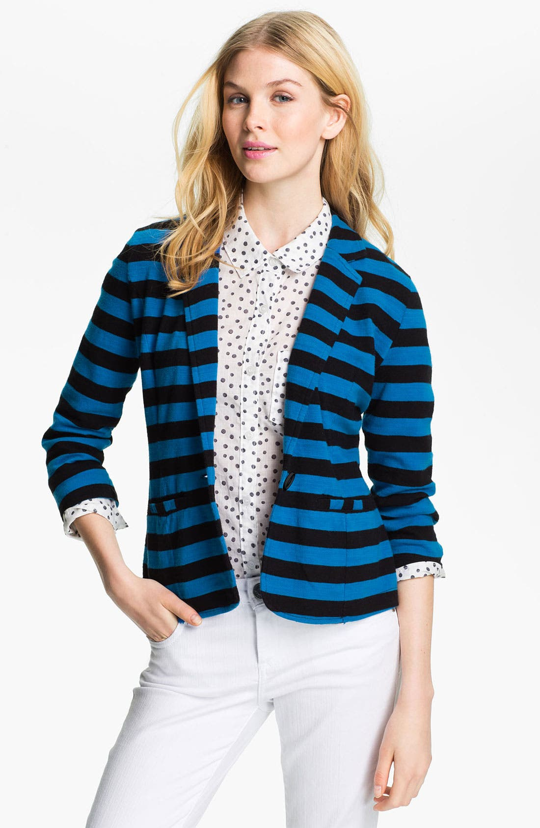 Alternate Image 1 Selected - Caslon® Roll Sleeve Knit Blazer