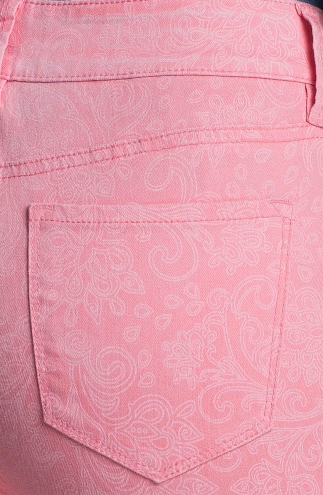 Alternate Image 2  - NYDJ 'Alisha' Paisley Print Ankle Jeans