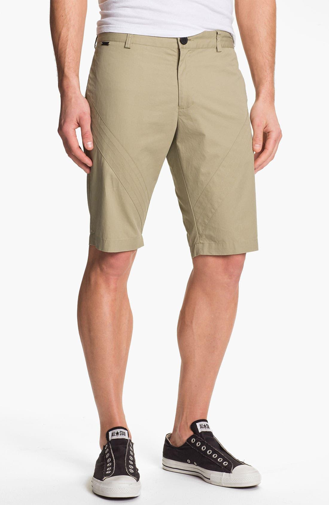 Main Image - adidas SLVR Flat Front Shorts