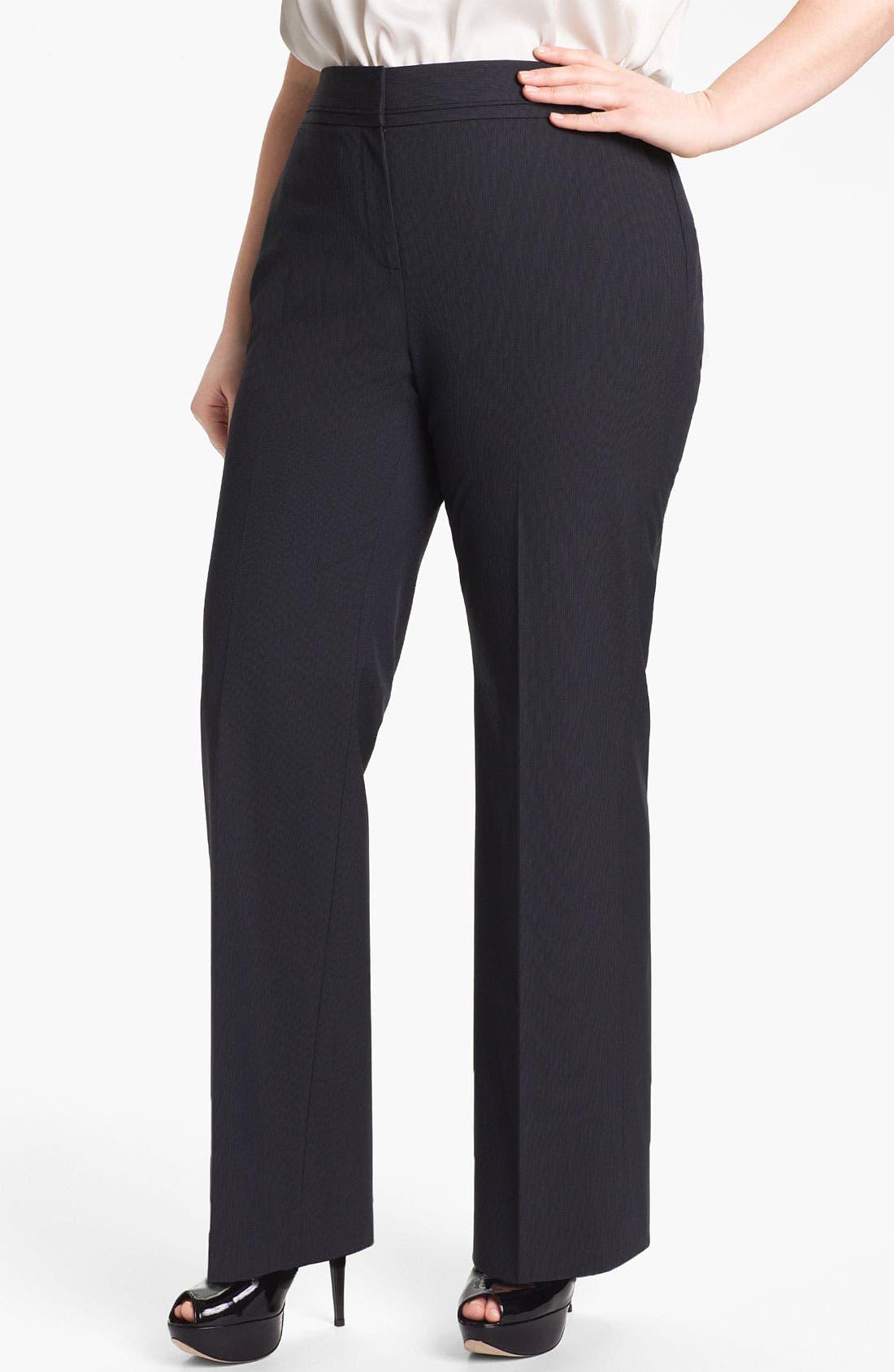 Alternate Image 1 Selected - Sejour 'Boardwalk' Suit Pants (Plus Size)