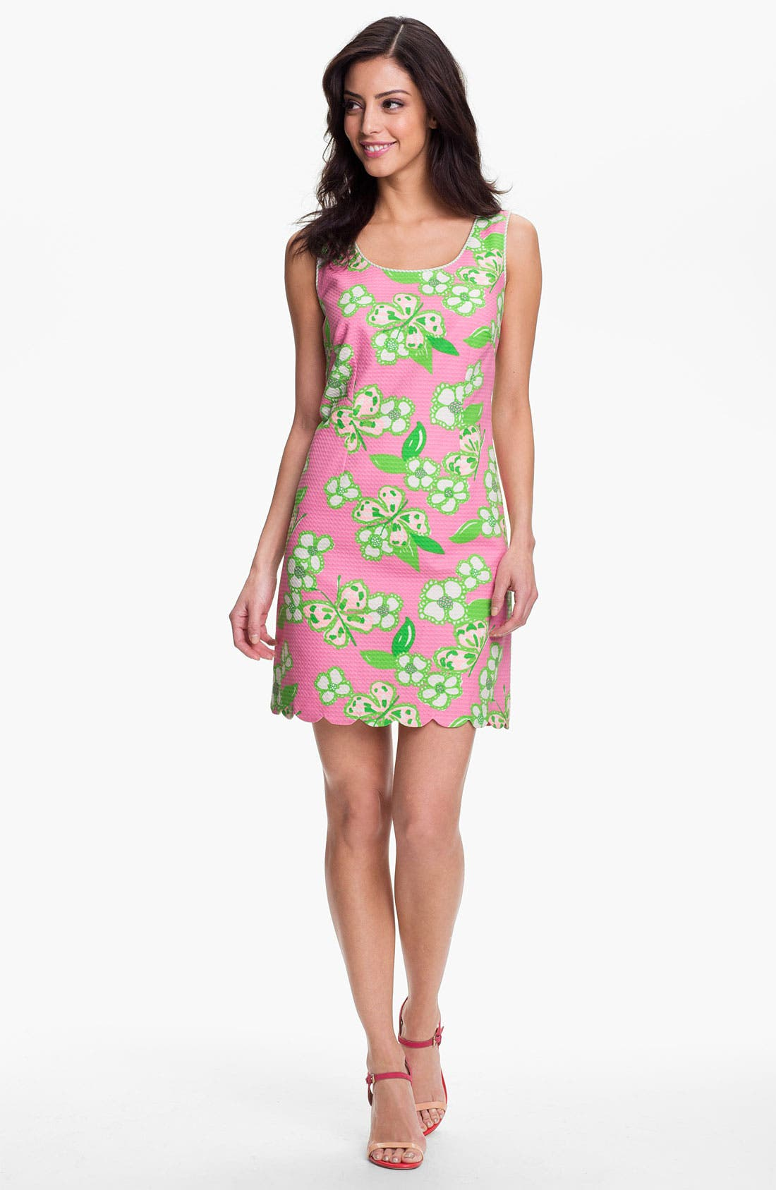 Main Image - Lilly Pulitzer® 'Nina' Print Jacquard Cotton Dress