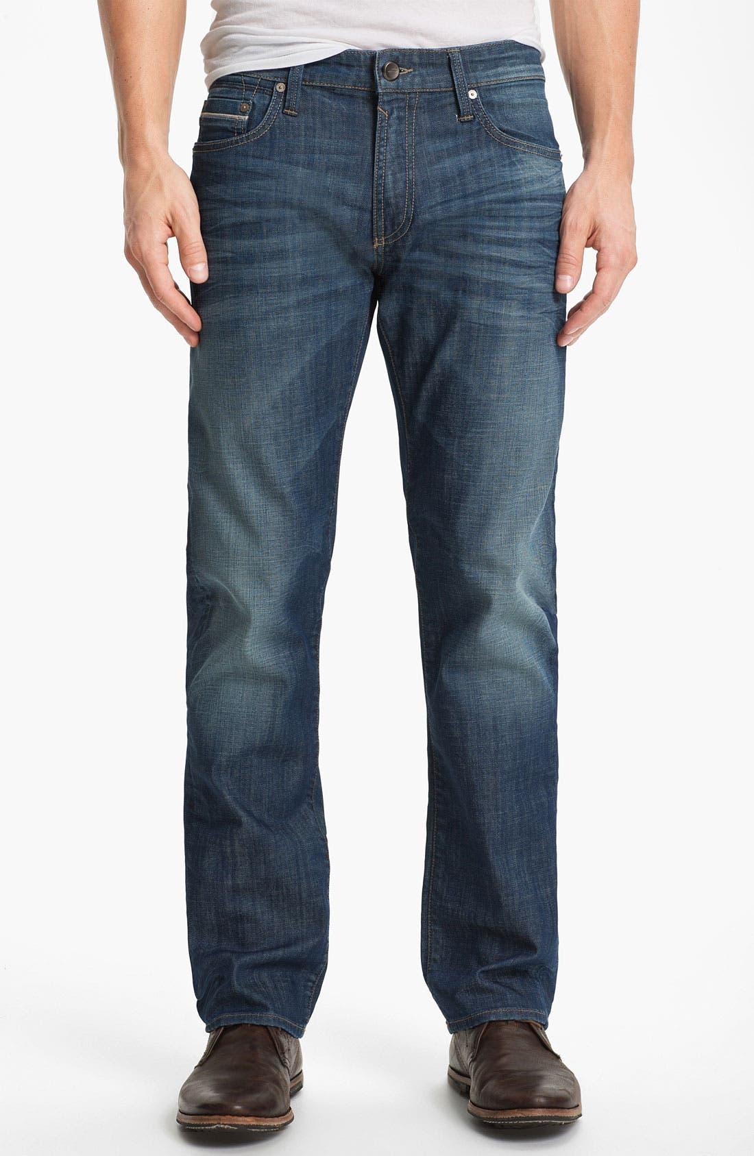 Alternate Image 2  - Mavi Jeans 'Zach' Straight Leg Jeans (Mid White Edge)