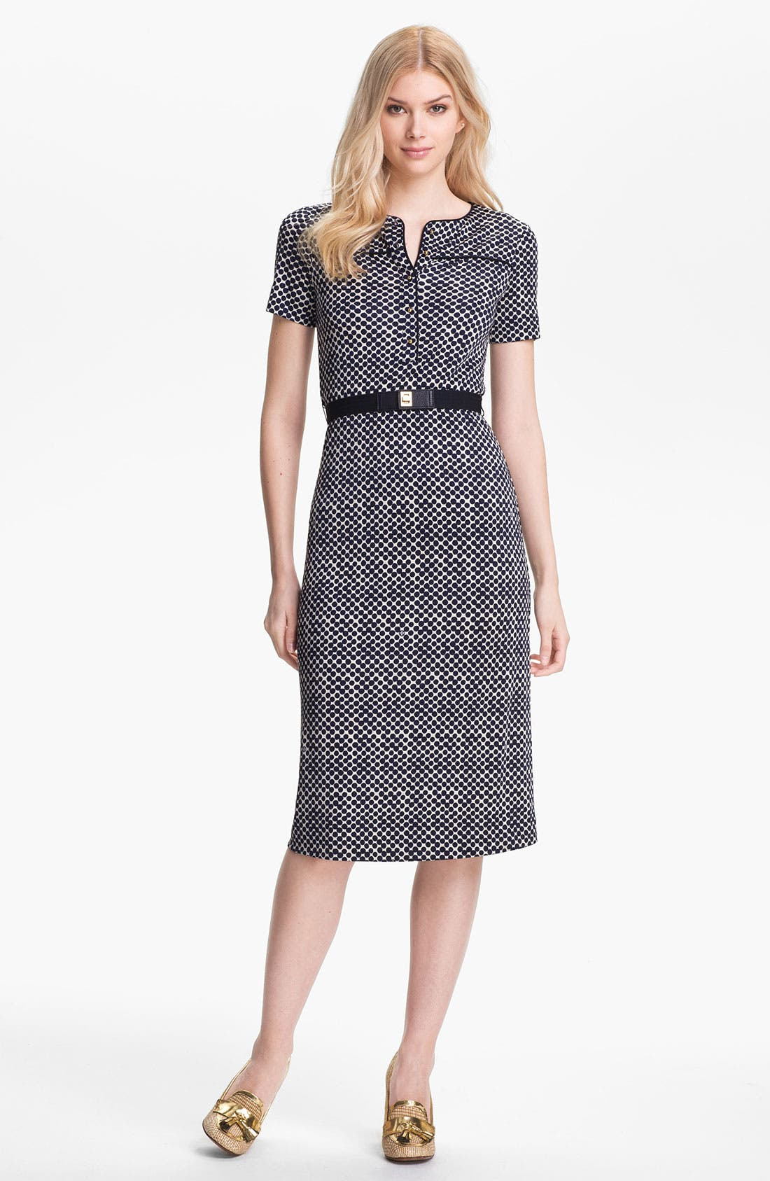 Alternate Image 1 Selected - Tory Burch 'Peggy' Silk Midi Dress