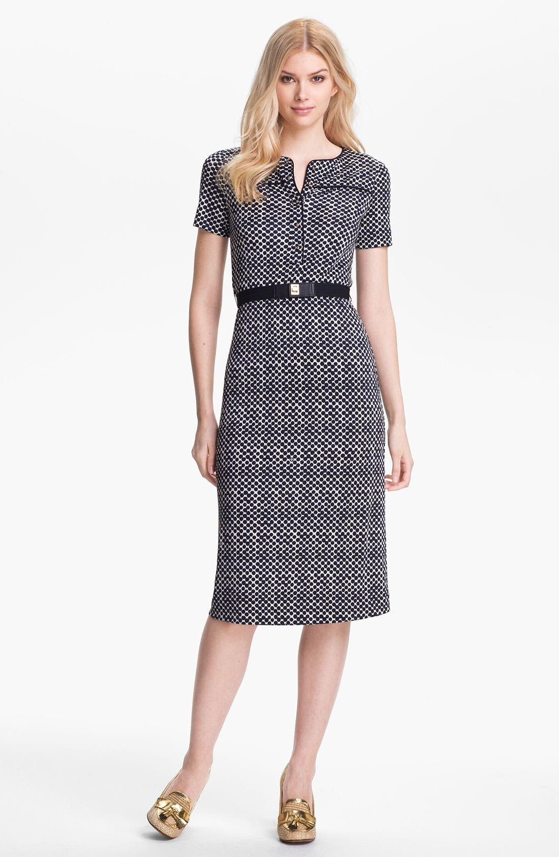 Main Image - Tory Burch 'Peggy' Silk Midi Dress