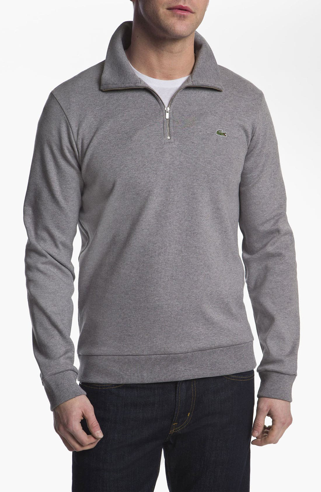 Alternate Image 1 Selected - Lacoste Quarter Zip Sweater