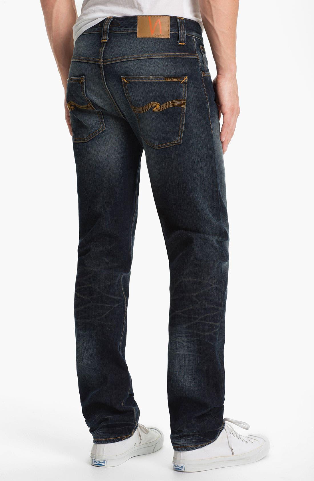 Alternate Image 1 Selected - Nudie 'Hank Rey' Straight Leg Jeans (Organic Indigo Depth)
