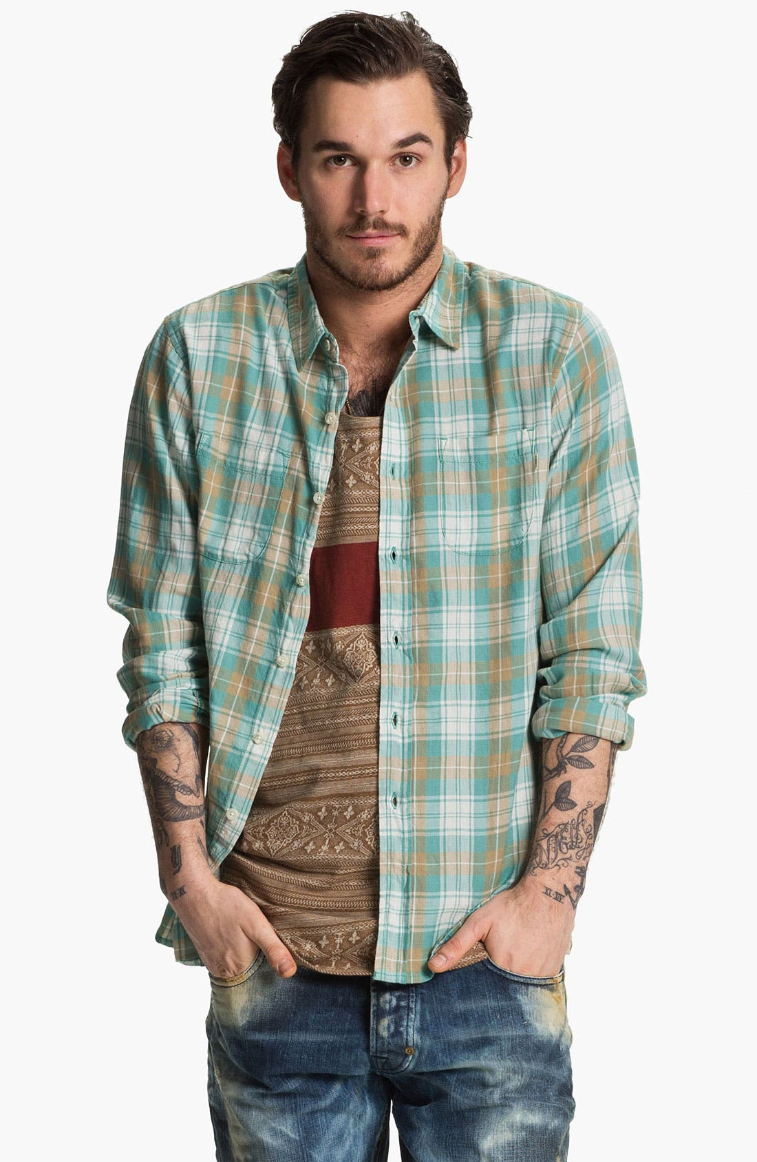 Main Image - Obey 'Holten' Plaid Woven Shirt