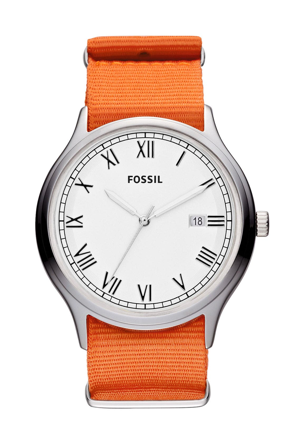 Alternate Image 1 Selected - Fossil 'Ansel' Nylon Strap Watch, 41mm