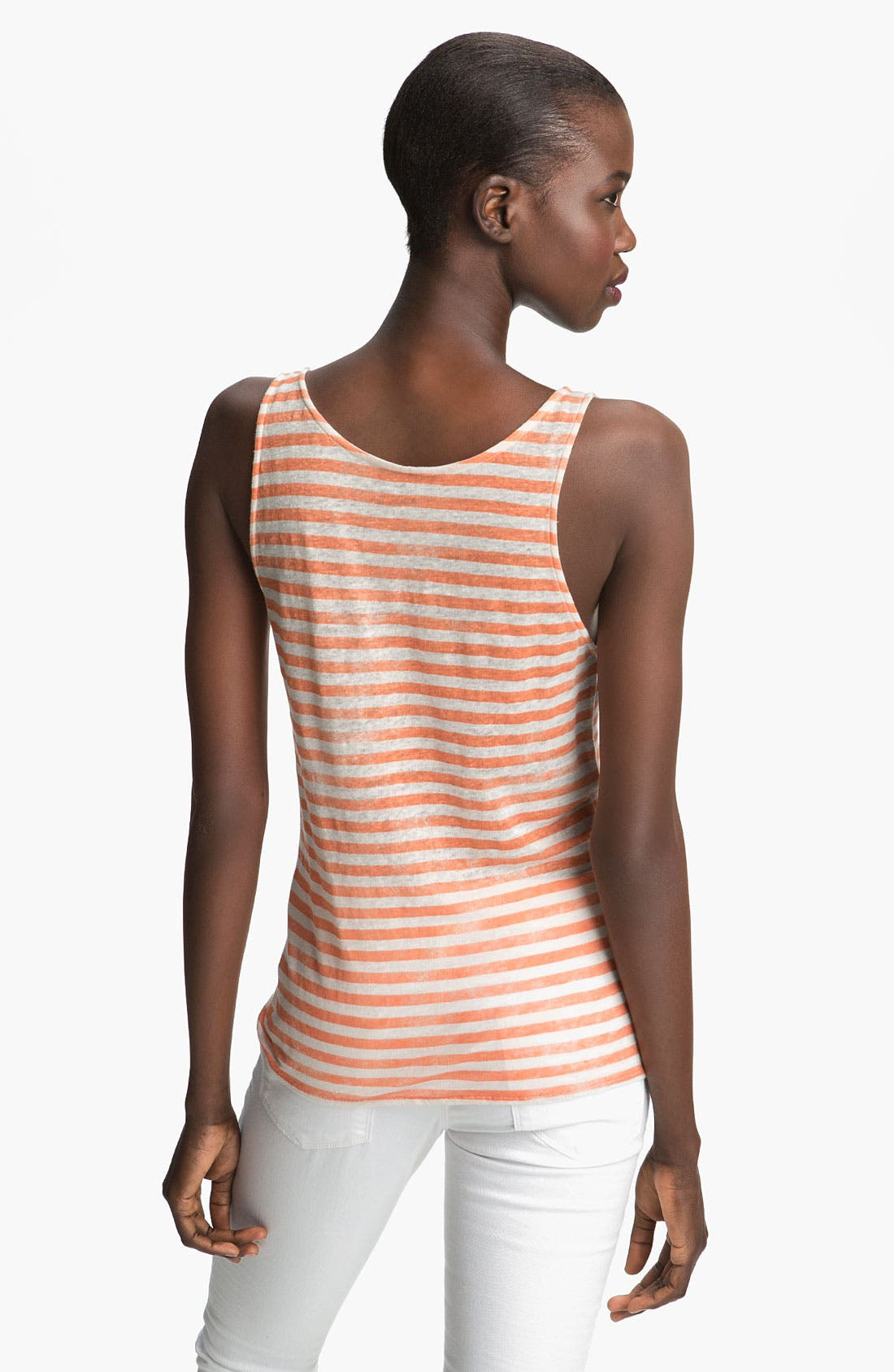 Alternate Image 2  - Majestic Stripe Linen Tank