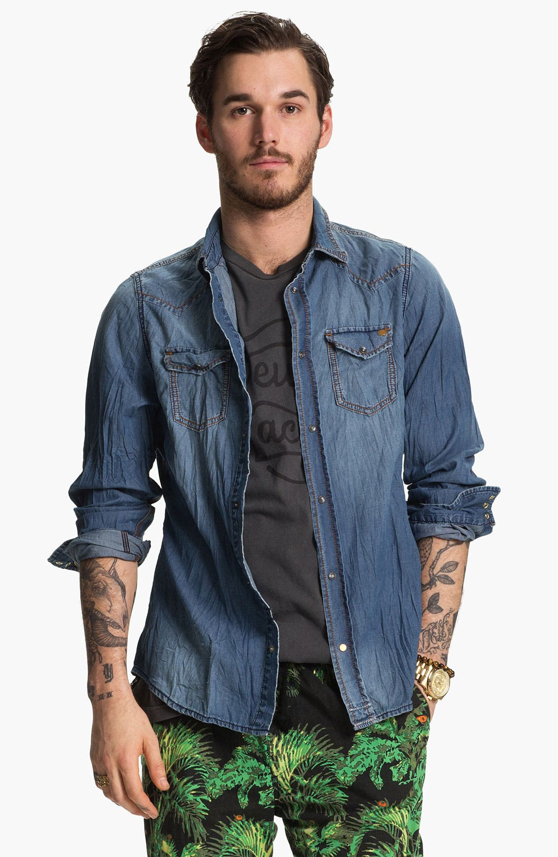 Alternate Image 1 Selected - PRPS 'Sonora' Denim Shirt