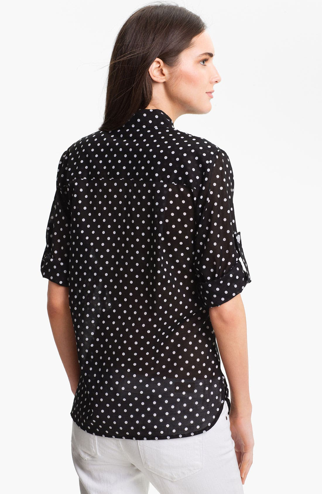 Alternate Image 2  - Bellefleur Roll Sleeve Polka Dot Shirt