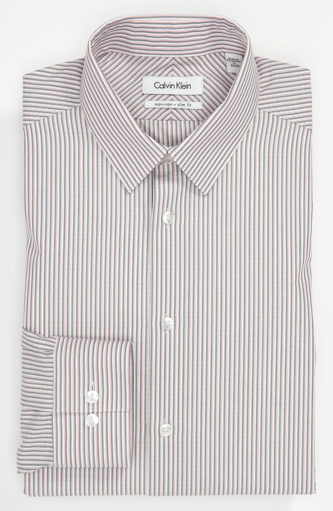Alternate Image 1 Selected - Calvin Klein 'South Beach Stripe' Slim Fit Dress Shirt