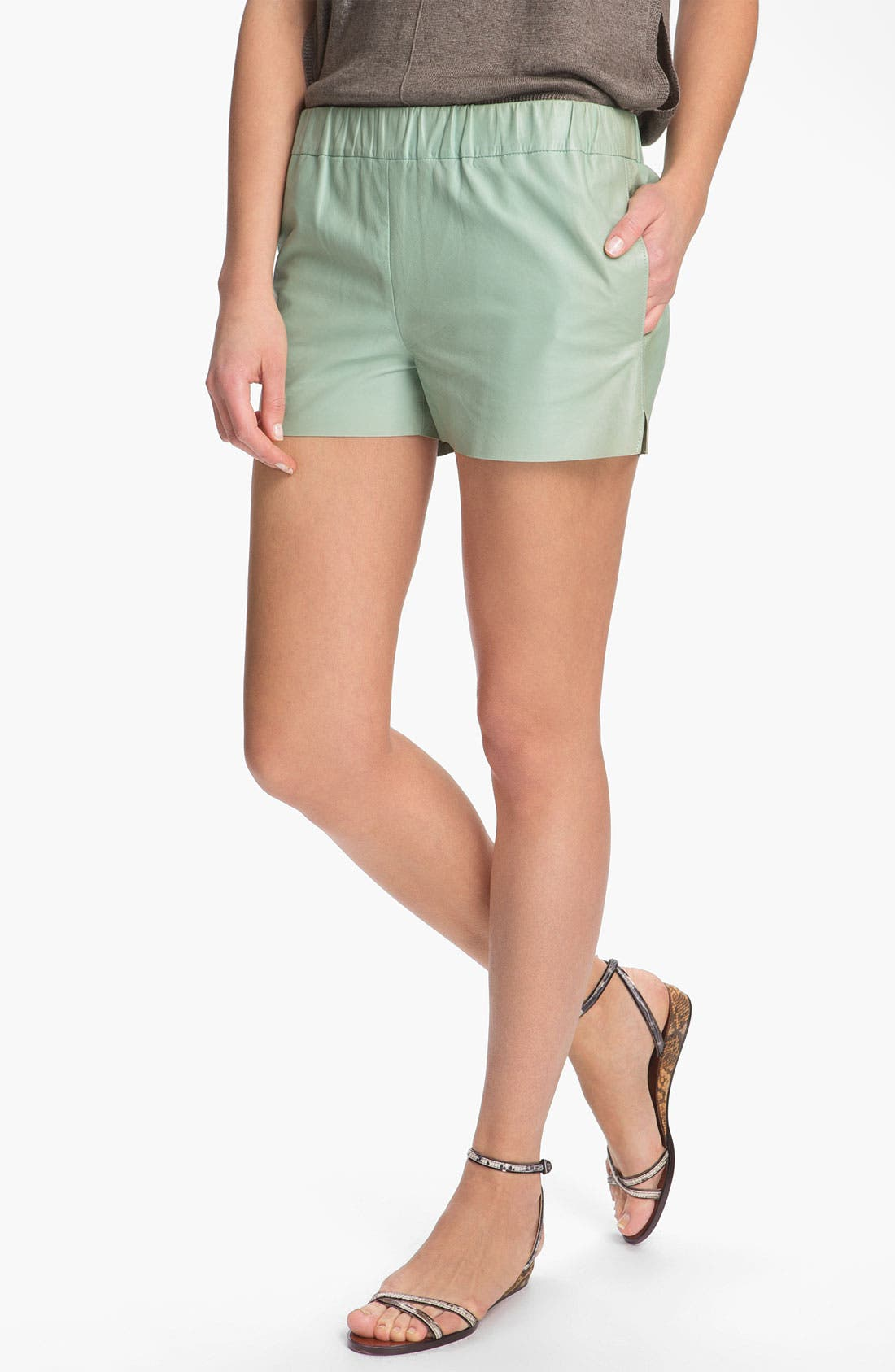 Alternate Image 1 Selected - J Brand Ready-to-Wear 'Lynn' Leather Shorts