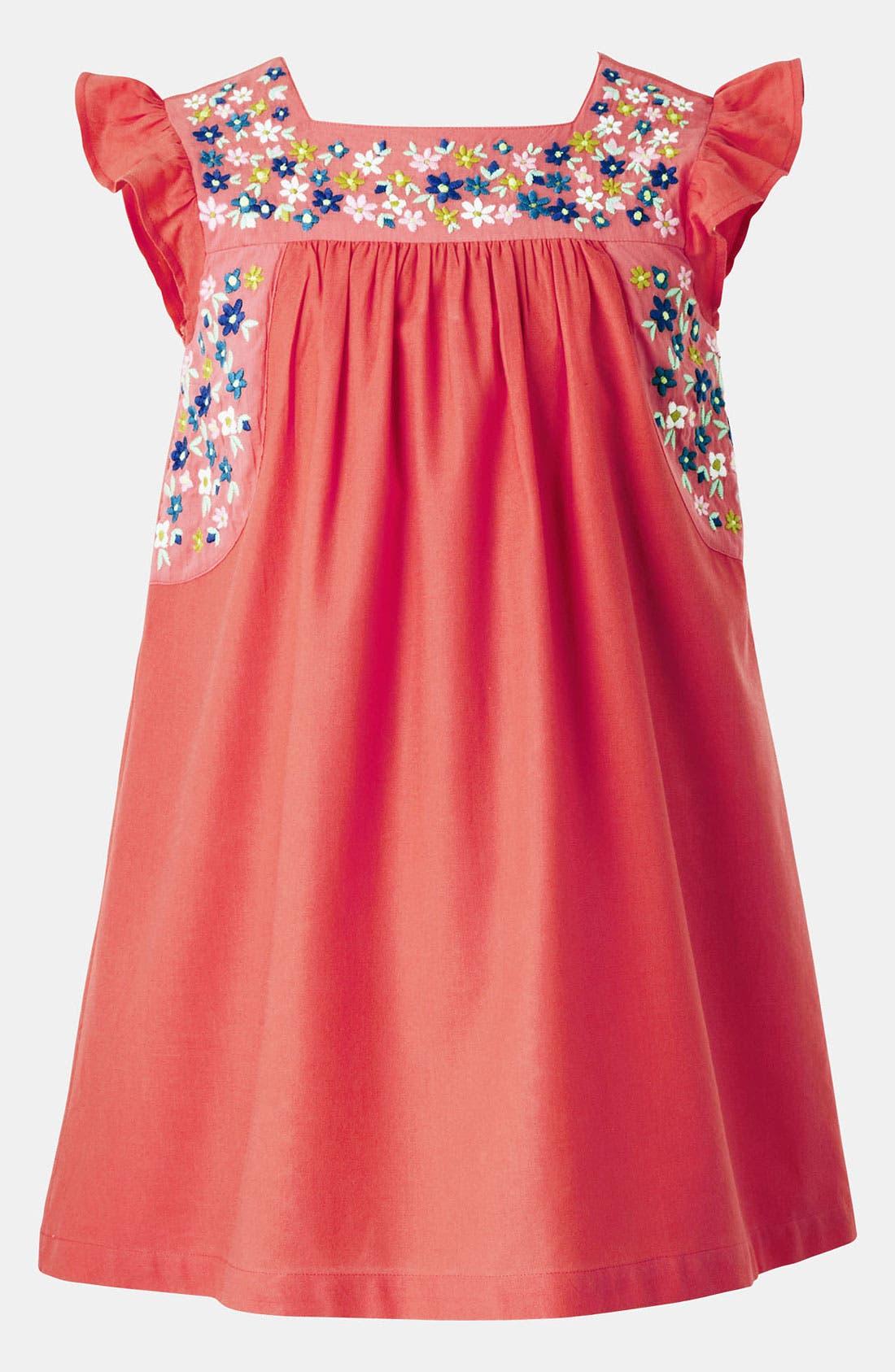 Main Image - Mini Boden Embroidered Dress (Big Girls)